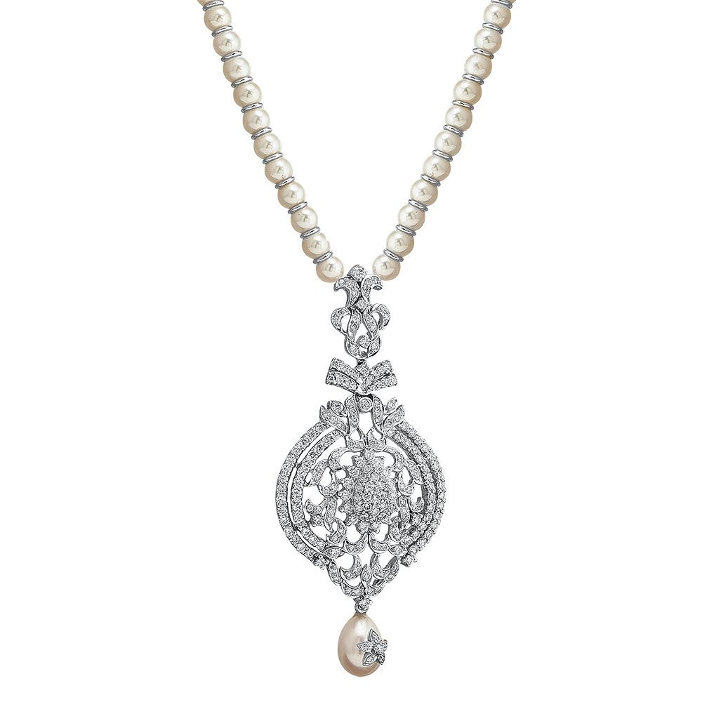 Heritage Pearl and Diamond Necklace