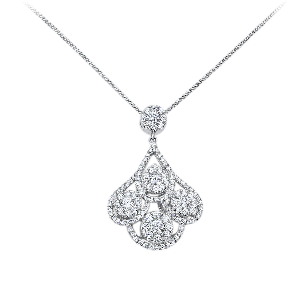 Raindrop Diamond Necklace