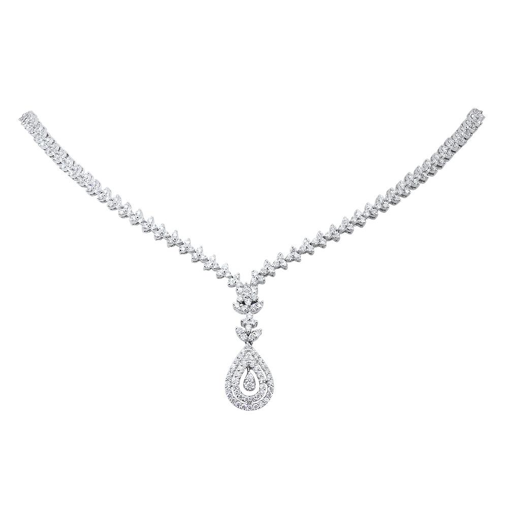 Trillium Drop Diamond Necklace